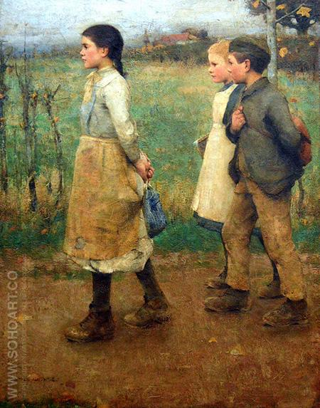 School Mates c1920 - James Guthrie reproduction oil painting