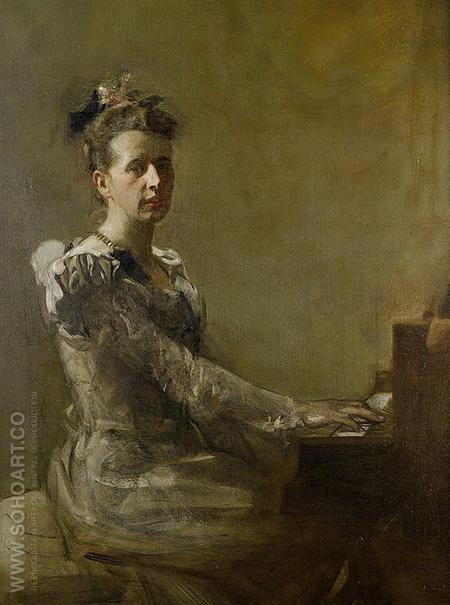 Miss Isabella H. Gardiner 1899 - James Guthrie reproduction oil painting