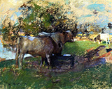 Pastureland Drawing 1890 - James Guthrie