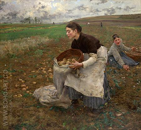 Damvillers 1878 - Jules Bastien-Lepage reproduction oil painting