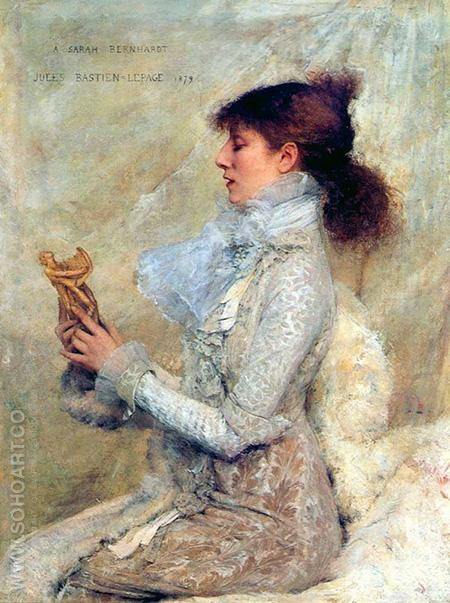 Bernhardt Sarah 1879 - Jules Bastien-Lepage reproduction oil painting