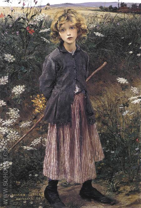 Young Girl c1882 - Jules Bastien-Lepage reproduction oil painting