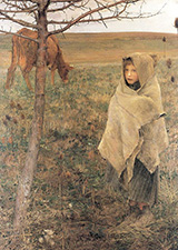 Pauvre Fauvette 1881 - Jules Bastien-Lepage reproduction oil painting