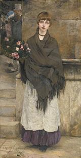 Marchande De Fleurs A Londres 1882 - Jules Bastien-Lepage