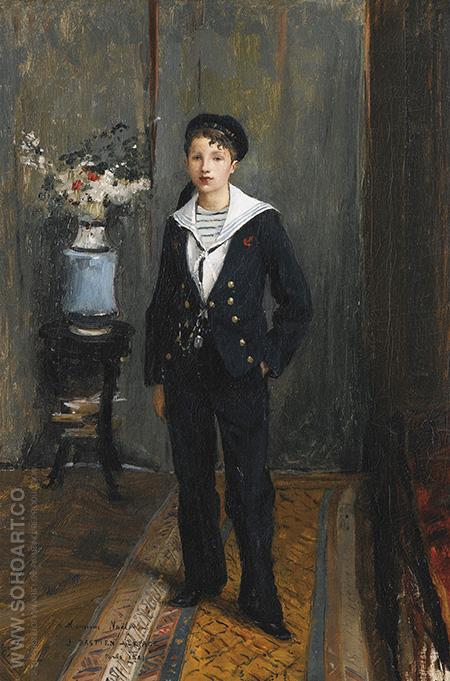 Portrait of a Young Boy - Jules Bastien-Lepage reproduction oil painting