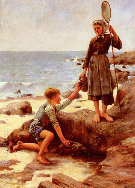 Les Enfants Pecheurs - Jules Bastien-Lepage reproduction oil painting