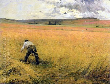 Les Bles Murs - Jules Bastien-Lepage reproduction oil painting