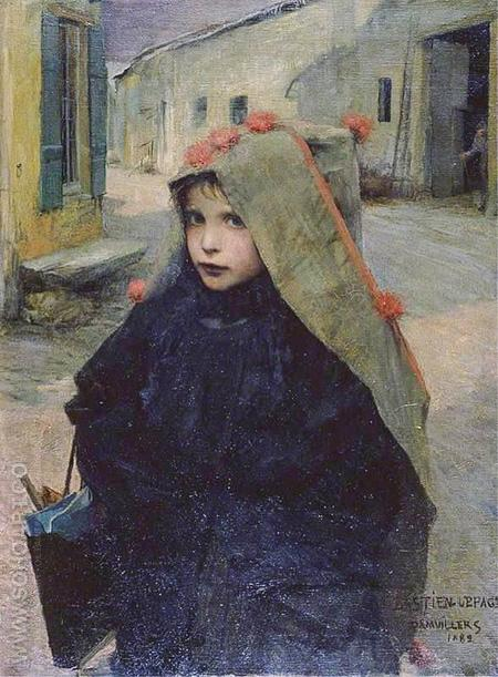 Going to School 1882 - Jules Bastien-Lepage reproduction oil painting