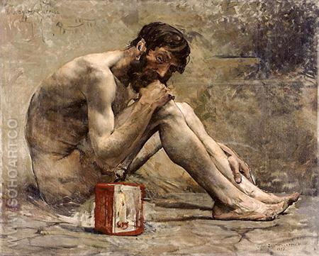 Diogene 1873 - Jules Bastien-Lepage reproduction oil painting