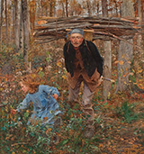 The Wood Gatherer 1881 - Jules Bastien-Lepage reproduction oil painting