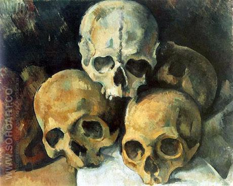 Pyramid of Skulls 1901 - Paul Cezanne reproduction oil painting