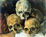 Pyramid of Skulls 1901 - Paul Cezanne