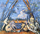 The Bathers 1898-1905 - Paul Cezanne reproduction oil painting