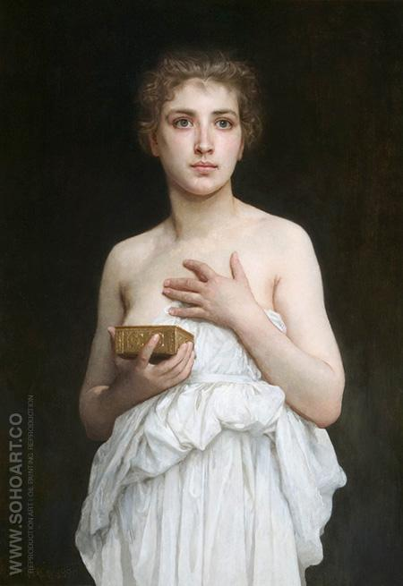 Pandora 1890 - William-Adolphe Bouguereau reproduction oil painting