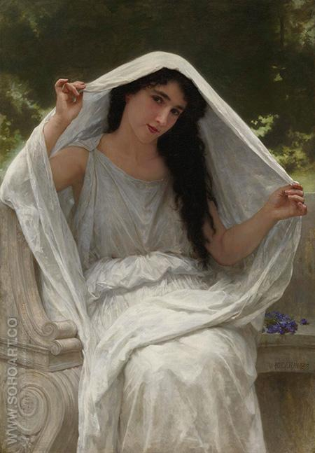 The Veil 1898 - William-Adolphe Bouguereau reproduction oil painting