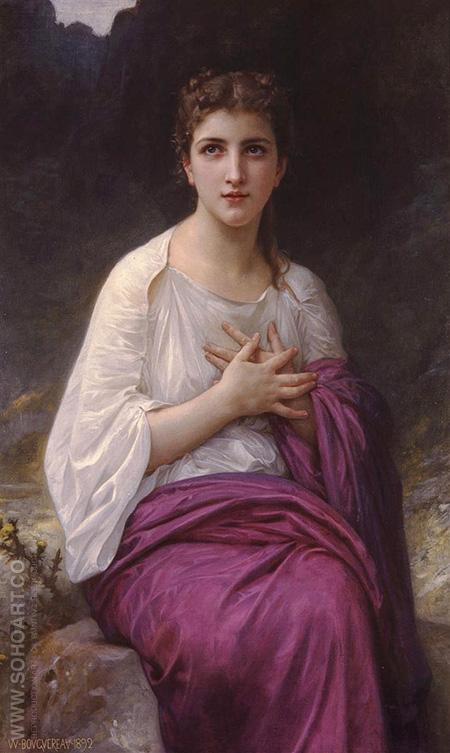 Psyche 1892 - William-Adolphe Bouguereau reproduction oil painting