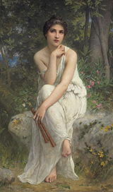 The Flute Player - Charles Amable Lenoir