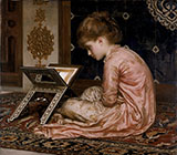 Study at Reading Desk 1877 - Frederick Lord Leighton