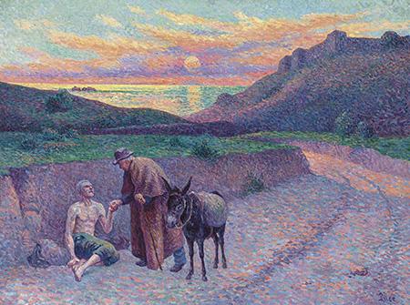 Le Bon Samaritain 1896 - Maximilien Luce reproduction oil painting