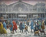 La Gare De L'Est Sous La Neige 1917 - Maximilien Luce