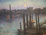 Port of London Night 1894 - Maximilien Luce