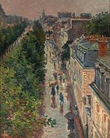 Street Scene in Paris 1896 - Maximilien Luce reproduction oil painting
