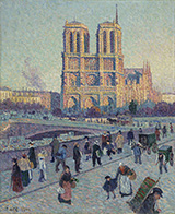 The Quai Saint-Michel and Notre-Dame 1901 - Maximilien Luce