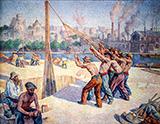 Les Batteurs De Pieux c1902-1905 - Maximilien Luce