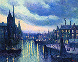 The Port of Rotterdam Evening 1908 - Maximilien Luce