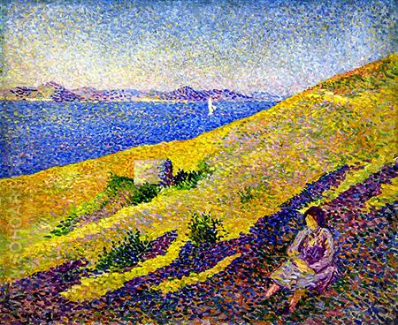 Coast of the Citadel 1892 - Maximilien Luce reproduction oil painting