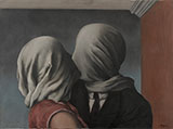 Les Amants, The Lovers 1928 - Rene Magritte