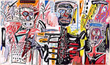 Philistines - Jean-Michel-Basquiat reproduction oil painting