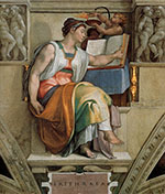Sistine Chapel Five Sibyls The Erythraean Sibyl 1509 - Michelangelo