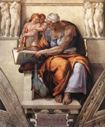 Sistine Chapel, Five Sibyls, The Cumaean Sibyl 1510 - Michelangelo