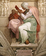 Sistine Chapel, Five Sibyls, The Persian Sibyl 1511 - Michelangelo reproduction oil painting