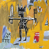 Julius Caesar on Gold - Jean-Michel-Basquiat