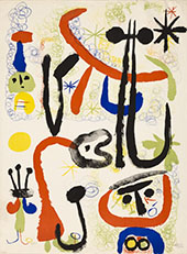 Personnages and Animals 1950 - Joan Miro reproduction oil painting
