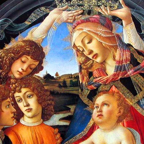 Madonna de Magnificat Detail 2 - Sandro Botticelli reproduction oil painting