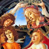 Madonna de Magnificat Detail 2 - Sandro Botticelli