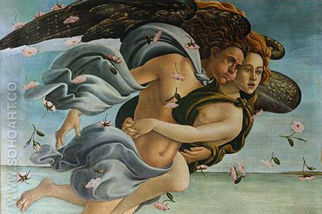 Wind of God  Detail 1 - Sandro Botticelli reproduction oil painting