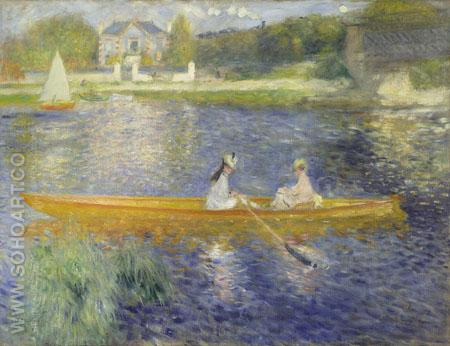 The Skiff aka La Yole 1875 - Pierre Auguste Renoir reproduction oil painting