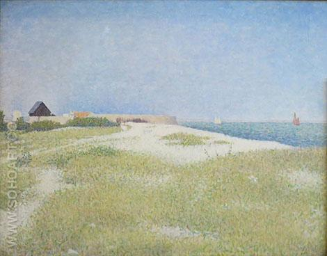 View of Fort Samson 1885 - Georges Seurat reproduction oil painting