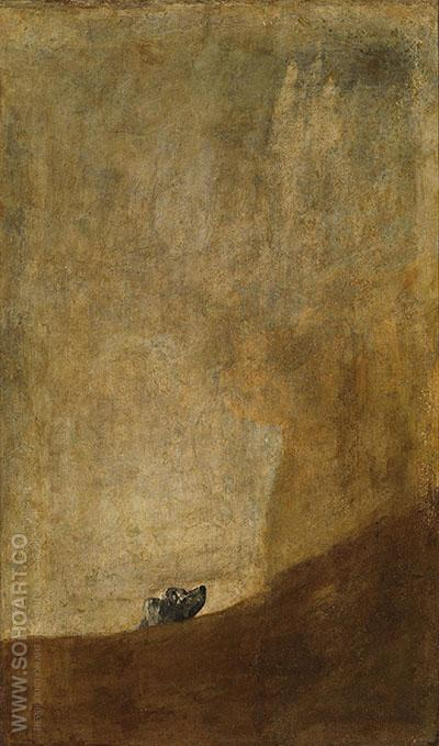 The Dog - Francisco de Goya ya Lucientes reproduction oil painting