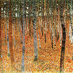 Beech Trees 1902 - Gustav Klimt reproduction oil painting