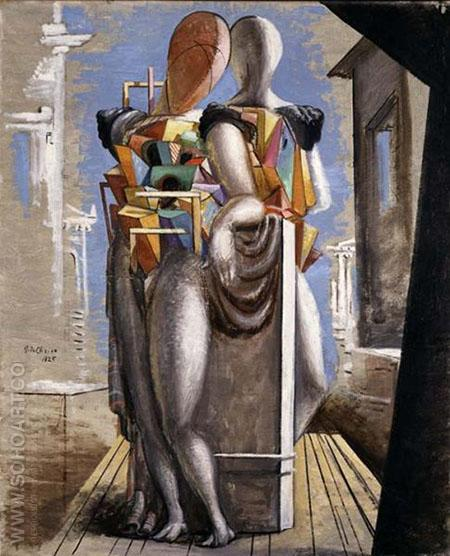 Deux Personages - Giorgio de Chirico reproduction oil painting
