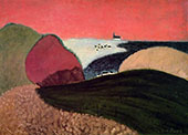 Gaspe Pink Sky 1940 - Milton Avery reproduction oil painting