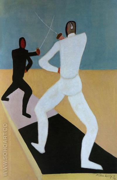 Fencers 1944 - Milton Avery reproduction oil painting