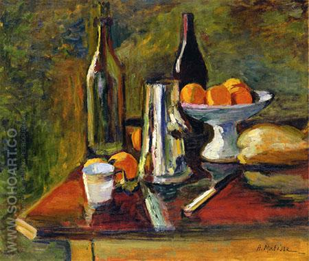 Still Life with Oranges 1898 - Henri Matisse reproduction oil painting
