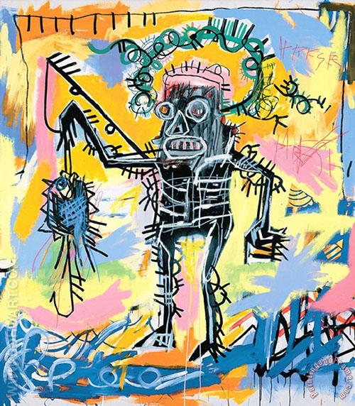 Untitled 1981 F - Jean-Michel-Basquiat reproduction oil painting