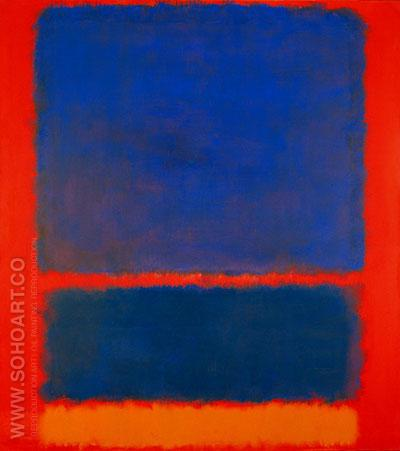Orange Blue Red 1961 - Mark Rothko reproduction oil painting
